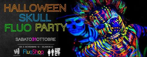 Halloween SKULL NEON PARTY