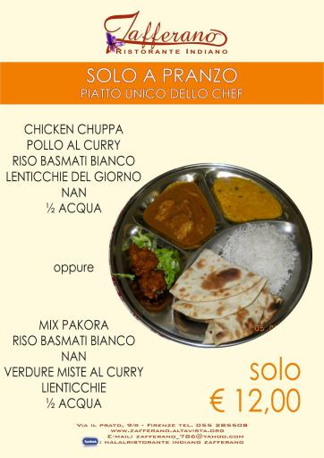 wow Indian thali dinner only € 12.00