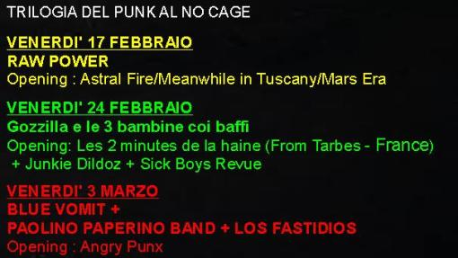 TRILOGY OF PUNK IN NO CAGE - NIGHT 1: RAW POWER