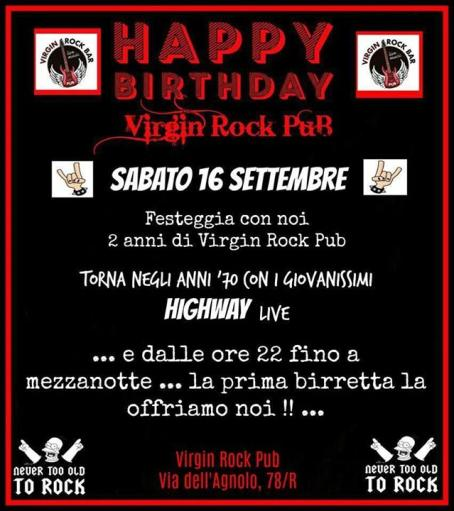 Happy Birthday Virgin Rock With HIGH WAY live !!!