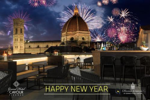 New Year's Eve Dinner at the Grand Hotel Cavour in the historic center of Florence
