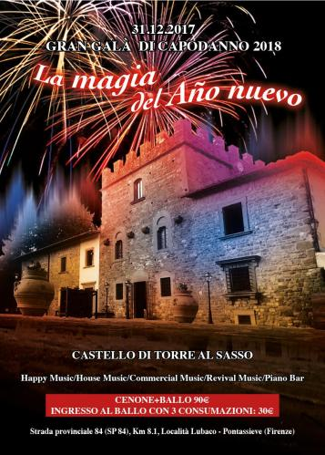New Year's Eve Gala 2018 at the Castle of Torre al Sasso