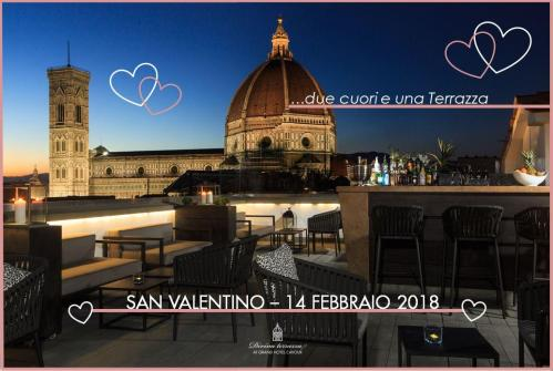 Valentine's Day dinner 2018 at the Grand Hotel Cavour in the historic center of Florence