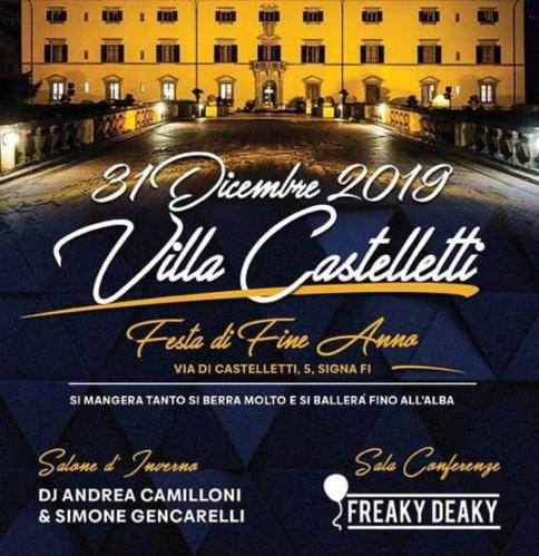 New Year's Eve 2020 at Villa Castelletti in Signa (Florence)