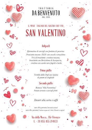 Valentine's Day 2020 dinner in the center of Florence at Trattoria Da Benvenuto