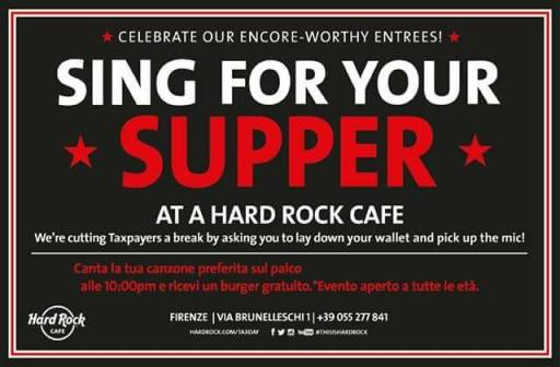 Sing For Your Supper - Canta Insieme A Noi !