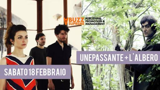 UnePassante + The Tree live / Aftershow tba at Glue