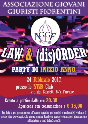 LAW and (dis)ORDER - Party di inizio anno