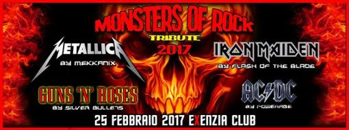 monsters of rock tribute metallica iron maiden guns acdc exenzia rock club prato 25. Black Bedroom Furniture Sets. Home Design Ideas