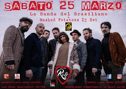 La Band Del Brasiliano! & Mashed Potatoes Dj Set!