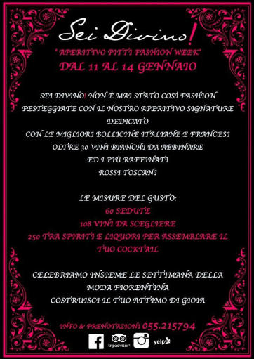 Aperitif Pitti Fashion Week