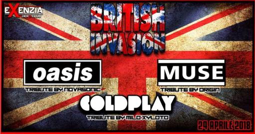 British Invasion 2018 : Oasis // Muse // Coldplay live tribute