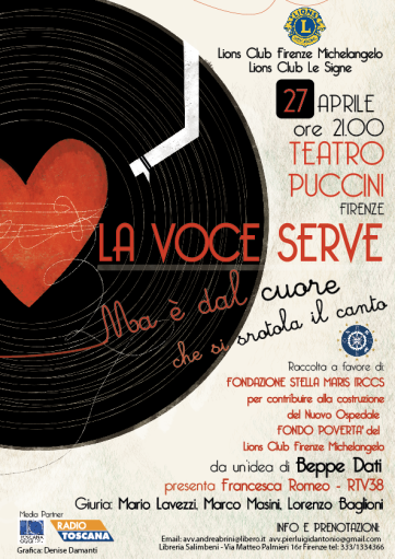 """La Voce Serve. But it is from the heart that the song is unrolled """