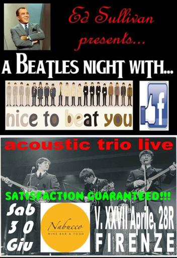 Nice to beat you acoustic trio live