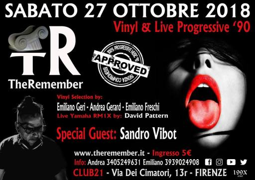 The Remember - Vinyl & live progressive '90 - Sandro Vibot