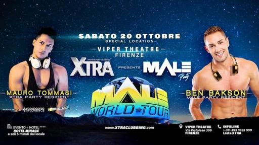 Open Lists! At the VIPER Ledwall Show! XTRA and Male Party in Florence