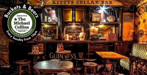 Buckets & Beers at Michael Collins on Tuesdays