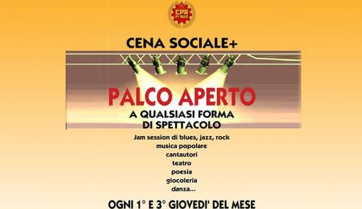 Social dinner + Open stage in the inferno bar