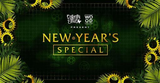 BUTTERFLY EFFECT E WOOD MUSIC GARDEN PRESENTANO NYE SPECIAL PARTY
