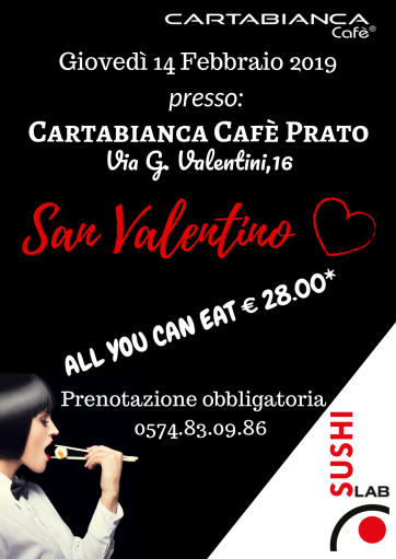 San Valentino All You Can Eat al SushiLab