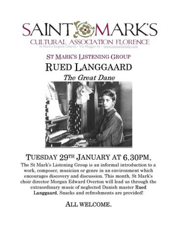 St Mark's Listening Group: Rued Langgaard