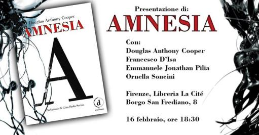 Amnesia (D Editore) - presentation with the author