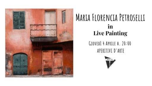 Maria Florencia Petroselli in Live Painting