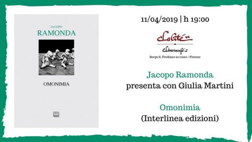 Homonymy with Jacopo Ramonda and Giulia Martini | #citelibri