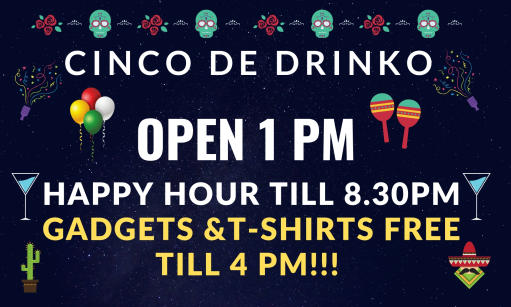 CINCO DE MAYO FIRENZE: OPEN 1 PM HAPPY HOUR TILL 8.30PM