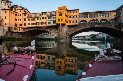 May Day by boat on the Arno
