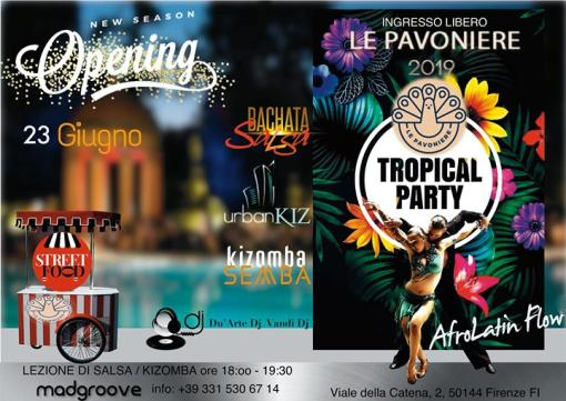 Afrolatin dance party at Florence Pavoniere - tropical flow