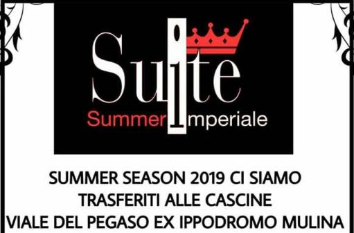 Wednesday Summer Suite Lounge Bar Disco bar Change location Former Hippodrome Le Mulina Area for farms For a summer 2019 Explosive !!!! Start 20.30 Aperitif formula Pizzeria formula Supper dinner served grill Start 23 Dj set Shops