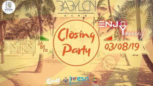 EnjoYourself • CLOSING PARTY