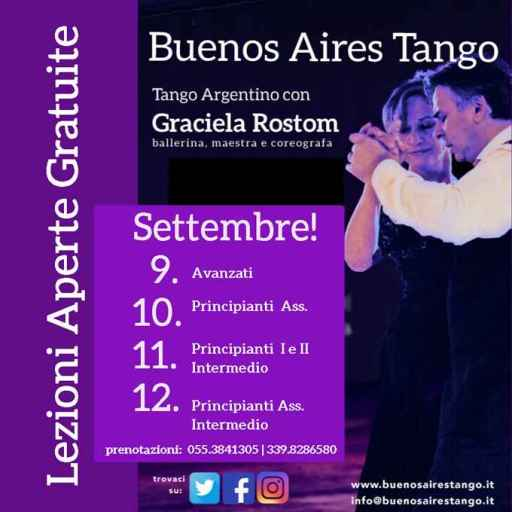 Tango! Free Open Lessons with Graciela Rostom