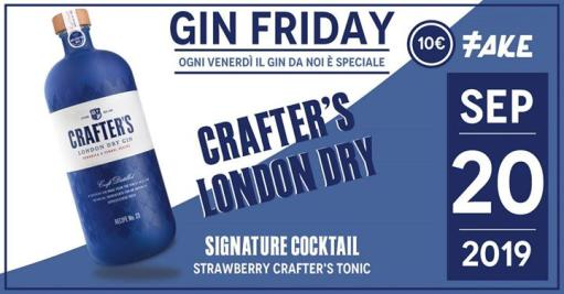 GIN Friday! - Degustazione crafter's London dry Gin