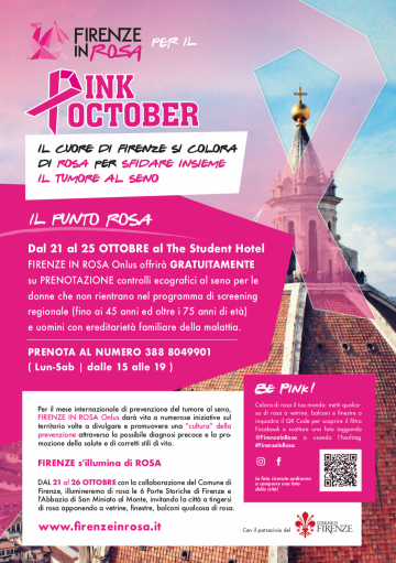 FIRENZE IN ROSA PER IL PINK OCTOBER