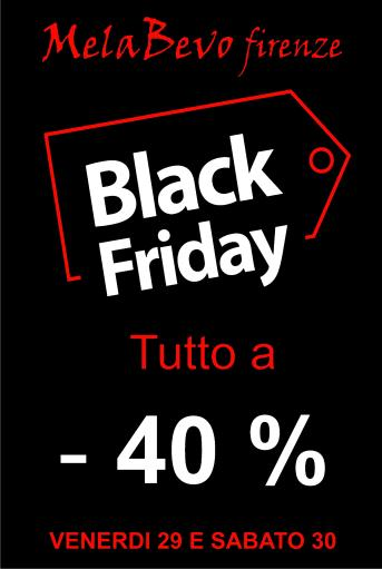 BLACK FRIDAY 2019: tutto a -40%