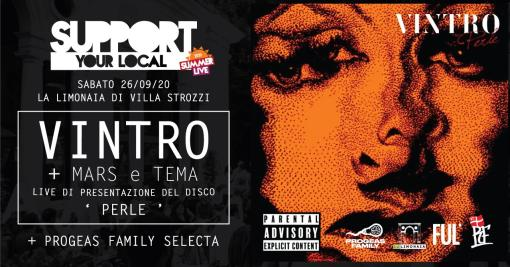 Support Your Local: Vintro live pres. 'Perle'